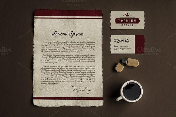 Branding Identity Mock-Up by attraax on Creative Market