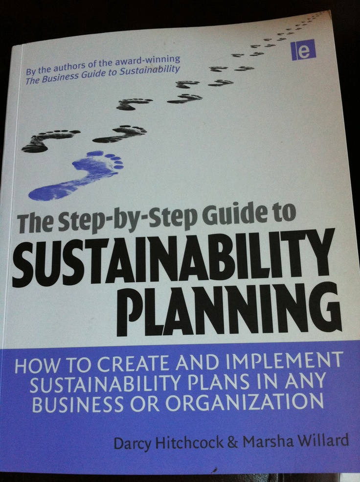 Great subject matter book for sustainability practitioners.  Marsha Willard of International Society of Sustainability Professionals explains the WHY of applied corporate sustainability and the tried and true HOW. It is a great complement to your existing program or a new framework that you can use, which incorporates The Natural Step, elements of Carbon Disclosure Project and others.