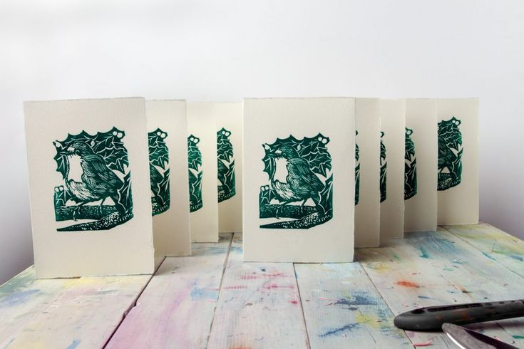 How+To+Make+Your+Own+Linocut+Christmas+Cards