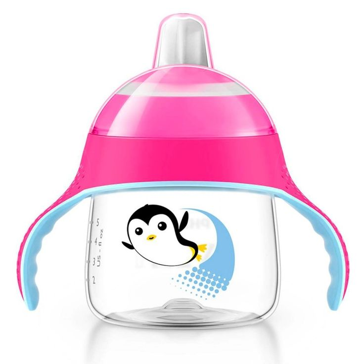 Copo com Bico Pinguim 200 ml Rosa (6m+) - Philips Avent Rosa - Philips Avent   Mini Bebê