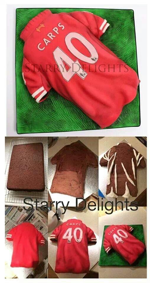 Football shirt cake . Trikot cake                                                                                                                                                                                 More