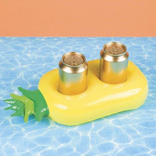 Bouée porte-boissons Ananas