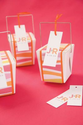 Michaels Com Wedding Department Modern Orange And Pink Take Out Box