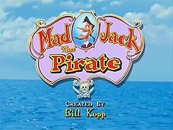 Mad Jack The Pirate - created by Bill Kopp & was directed by Jeff DeGrandis. On US TV, the show was broadcast on Fox Kids. The concept is of the adventures of the rather unsuccessful & cowardly Pirate Jack who despite his failures never doubts his own excellence & his dim-witted anthropomorphic rat sidekick Snuk (voiced by Billy West) as they sail the seas on their ship the Sea Chicken. On July 23, 2001, Mad Jack & other properties of Saban Entertainment were sold to The Walt Disney Company.
