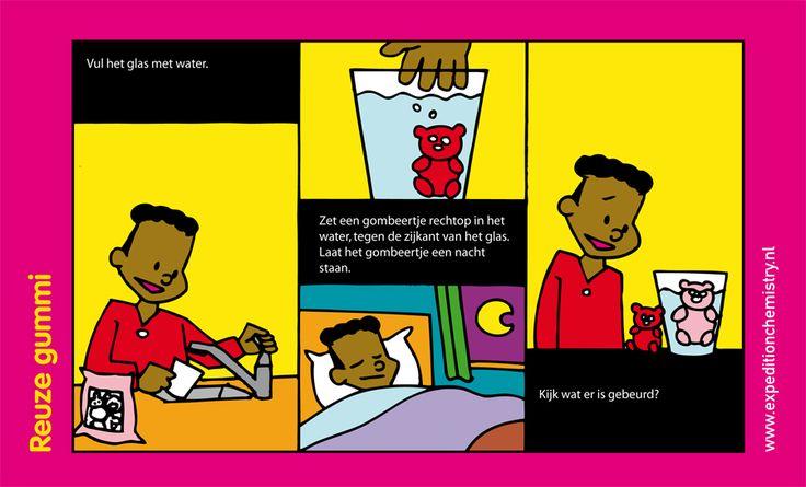 Reuze gummie, leuk proefje voor kinderen op de basisschool!
