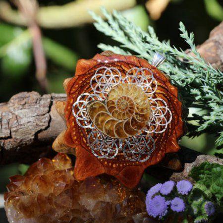 Ammonite Multi Seed of Life and Back Om | Třetí oko Pinecones