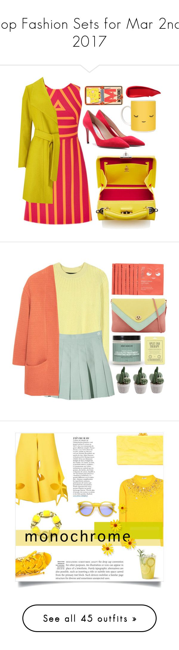"""""""Top Fashion Sets for Mar 2nd, 2017"""" by polyvore ❤ liked on Polyvore featuring Windsmoor, Prada, Moschino, Sisley, ALDO, Proenza Schouler, MANGO, Love 21, Rodial and Miu Miu"""