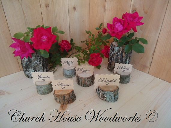 12 rustic place card holders tree card holders place holders rustic wedding decor wood place card holder rustic wedding supplies