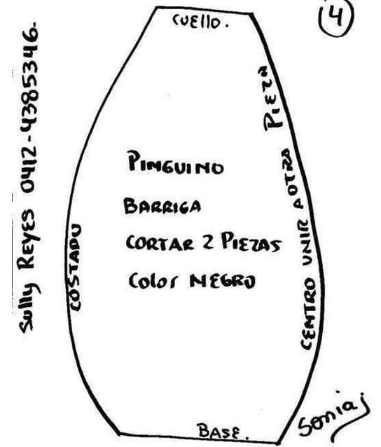 pinguinos-navide%C3%B1os-en-tela-con-moldes4.png (544×638)