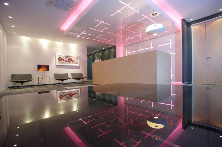 T-Systems Office Reception Area. Interior design by Source Interior Brand Architecture.