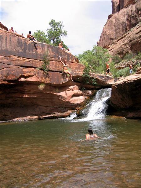 Waterfalls in Moab Utah   Thread: TR - Moab Mill Creek Swimming Hole