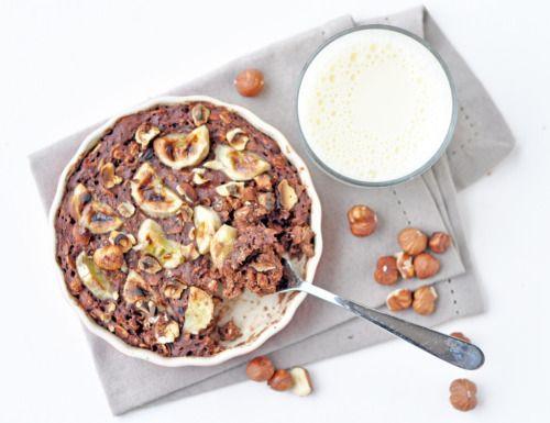 veganfoodtolove:  Chocolate Banana & Hazelnut Baked...