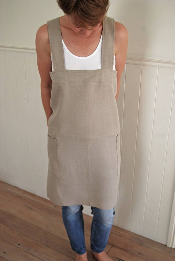 Check out this item in my Etsy shop https://www.etsy.com/nz/listing/533320553/linen-apron-cross-back-apron-japanese