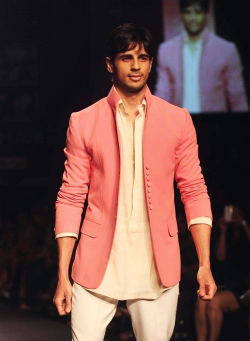 Sidharth walking for Manish Malhotra
