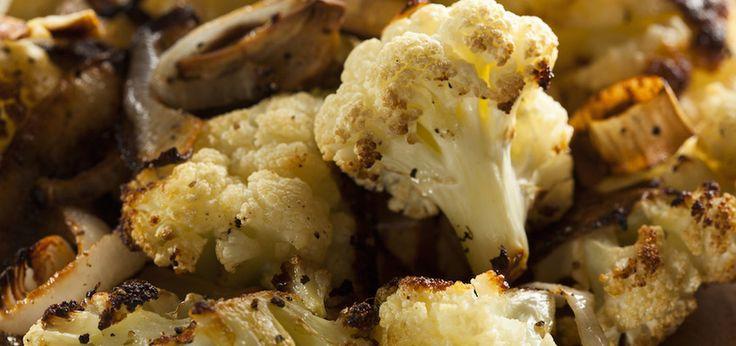 Roasted Cauliflower With Vegan Sweet Potato Cream Sauce