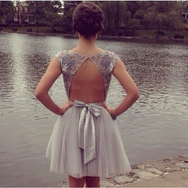 Custom Made Sweetheart Ball Gown Mini Tulle Sequins Homecoming Dress,Party Dress With Beading,Prom D on Luulla