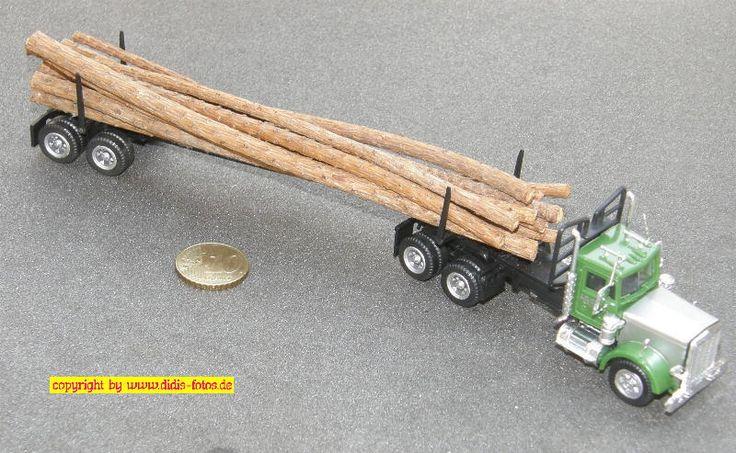 Peterbild Sattelzug (Sattelzugmaschine mit Nachläufer) Langholz (Herpa 856270)