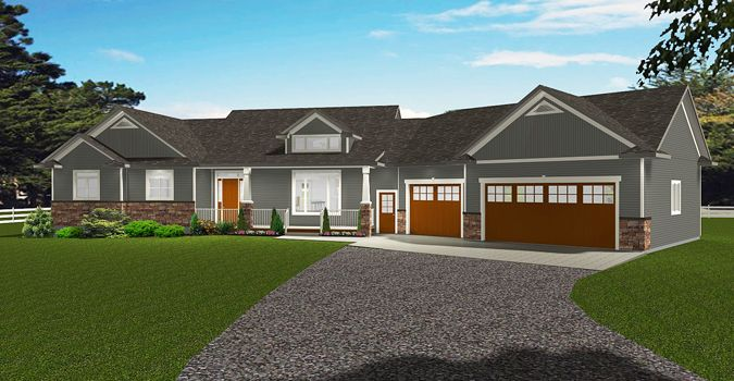 House Plan 2015910 Bungalow Plan With Angled 3 Car Garage By Edesignsplans Ca A Great Plan For Bungalow House Plans Garage House Plans Bungalow Floor Plans