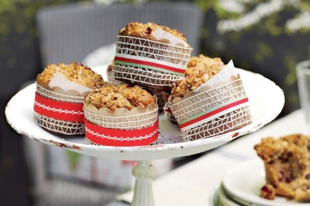 Bake a batch of these Christmas muffins to get into the festive spirit.