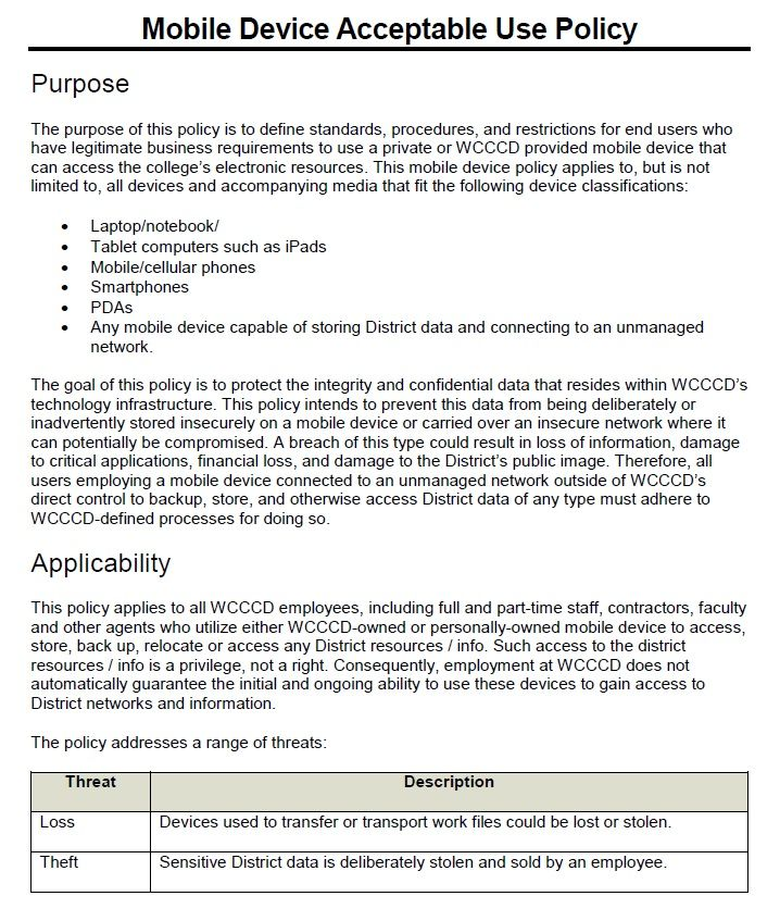 Cell Phone Policy Template For Companies Corporate Restaurants Template Sumo Policy Template Templates Policies