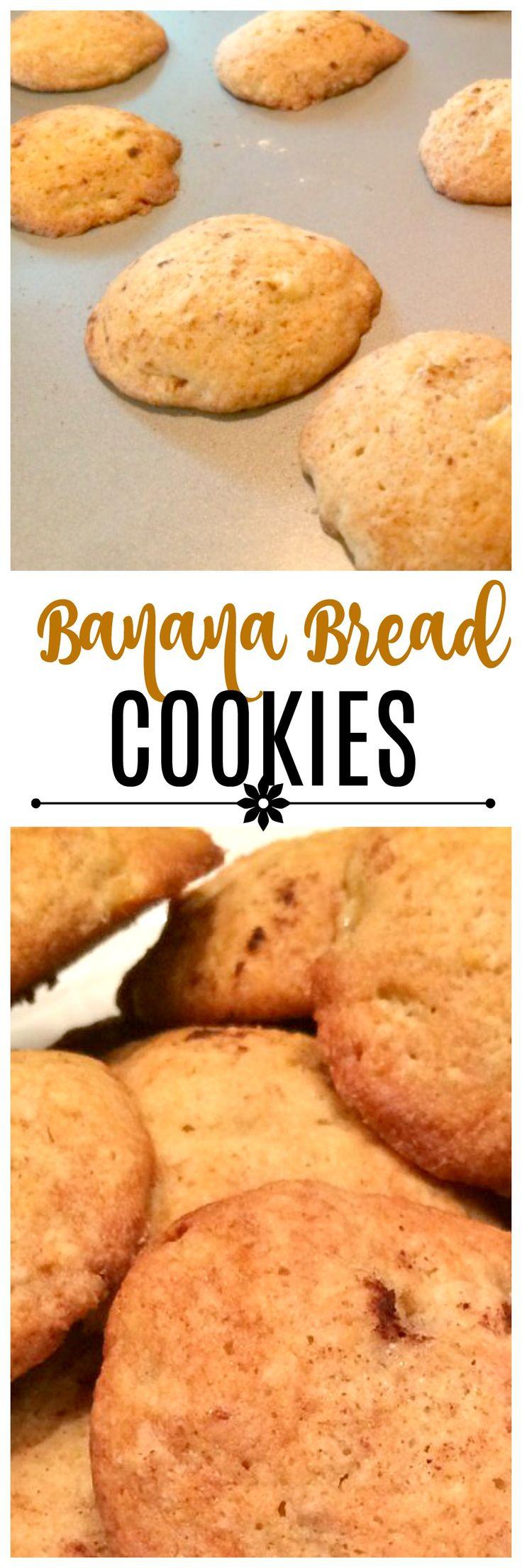 Banana Bread Cookies via @OCRaquel