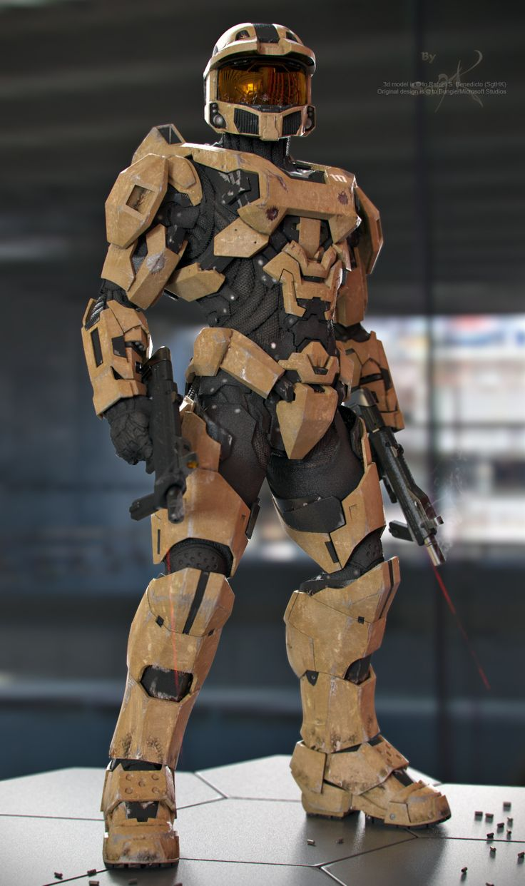 Master Chief - Desert Scheme by SgtHK.deviantart.com on @deviantART
