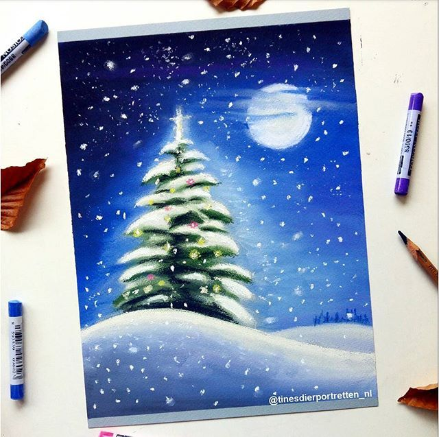 'The Lonely christmas tree'. New pastel drawing i made today😁 you can find the timelapse and materials used on my youtube channel! QOTD: What do you like most about christmas?🎄🎁 #christmas #christmastree #pastel #softpastels #art #drawing #snow #art #instartpics #artshelp #young_artists_help #arts_help #mizu_art #art_4share #arts_secret #spotlightonartists #night #landscape #imaginationarts #illustration #illustration #colourful #merrychristmas