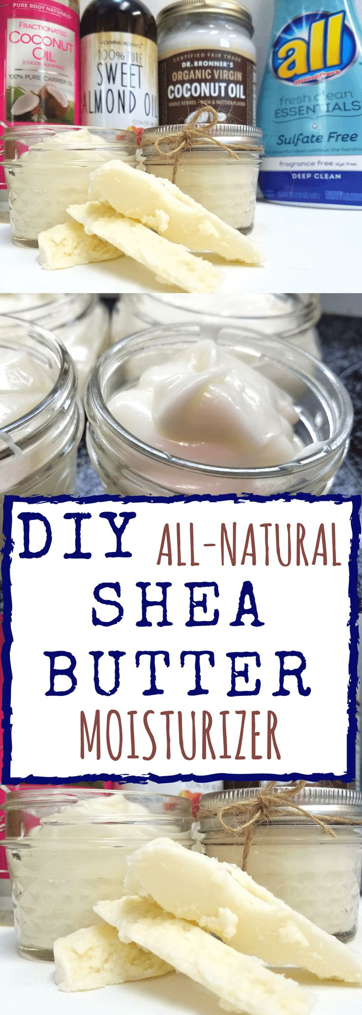 #ad #allessentials #allsulfatefree | DIY Whipped Shea Butter | All you have to do is melt down the ingredients, stir and wah la' moisturizer. Sounds easy enough right? | Homestead Wishing, Author Kristi Wheeler | http://homesteadwishing.com/diy-whipped-shea-butter-moisturizer/ | diy-shea-butter, diy-body-butter, diy-moisturizer, homemade-shea-butter | DIY-whipped-shea-butter-moisturizer | DIY whipped shea butter moisturizer