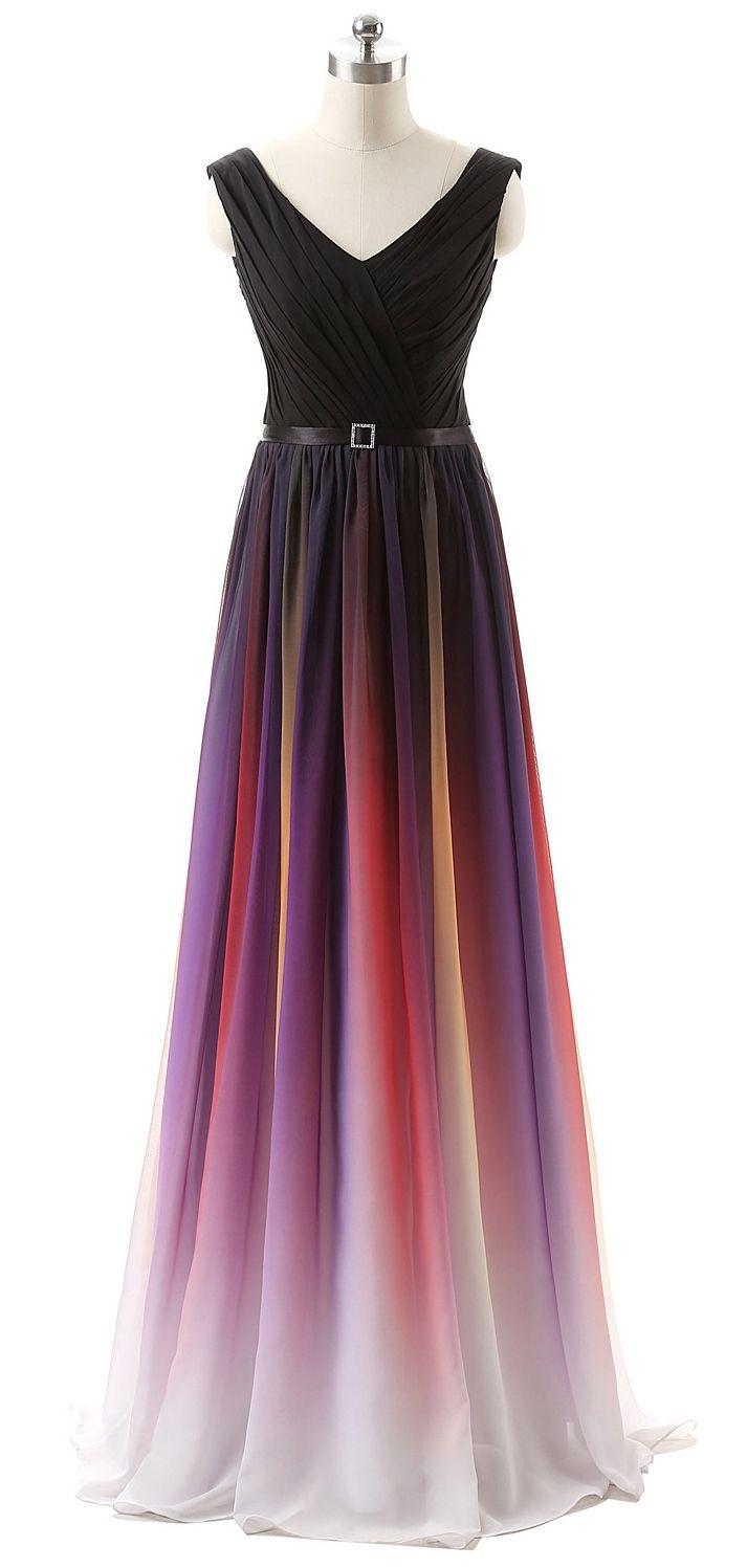 V Neckline Prom Dress Unique Bridesmaid Dresses Evening Party Gown pst9005