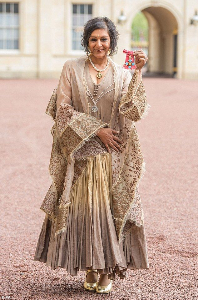 Meera Syal receives a CBE from Prince Charles at Buckingham Palace | Daily Mail Online