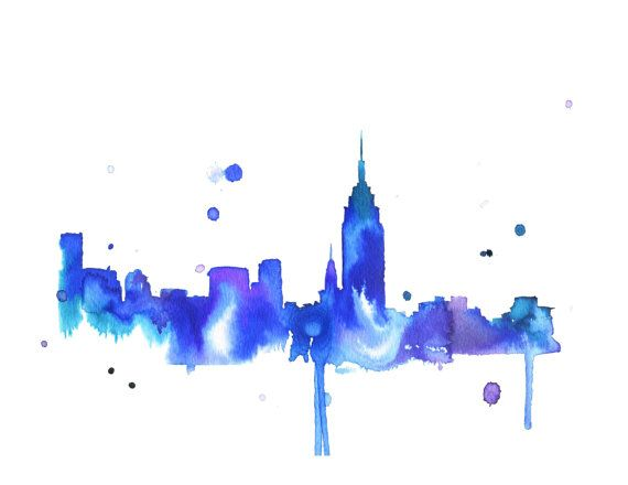 Watercolor Travel Illustration - New York Loves You print