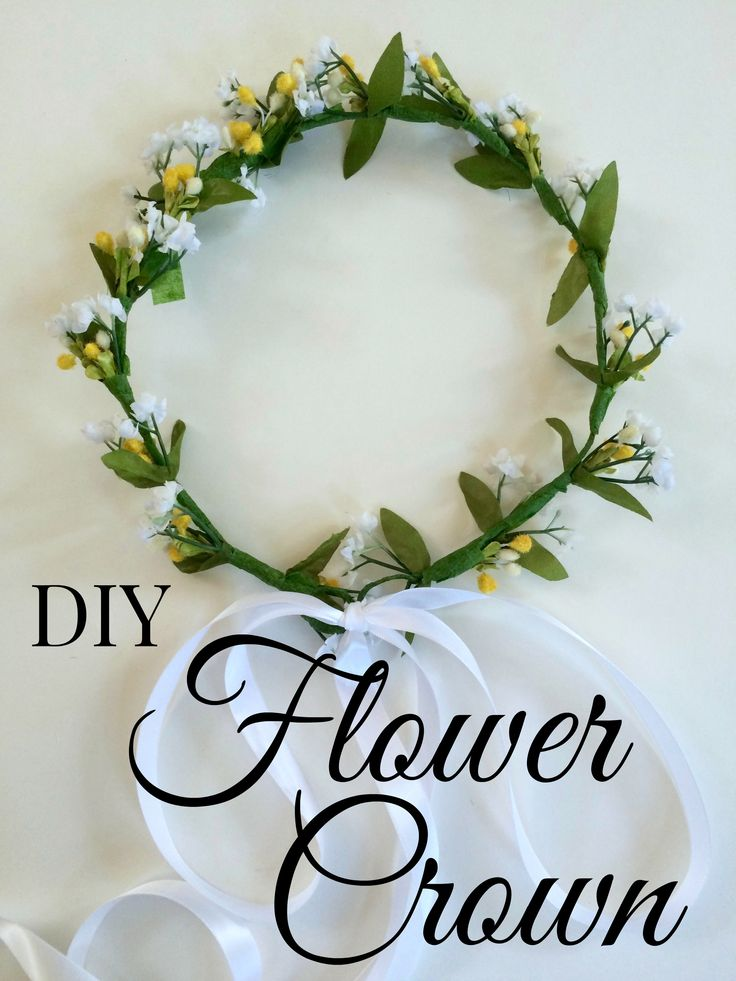 step by step on how to make a flower crown