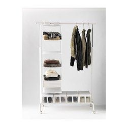 RIGGA Clothes rack - - IKEA. Rack and complementary products for space saving clothes storage.