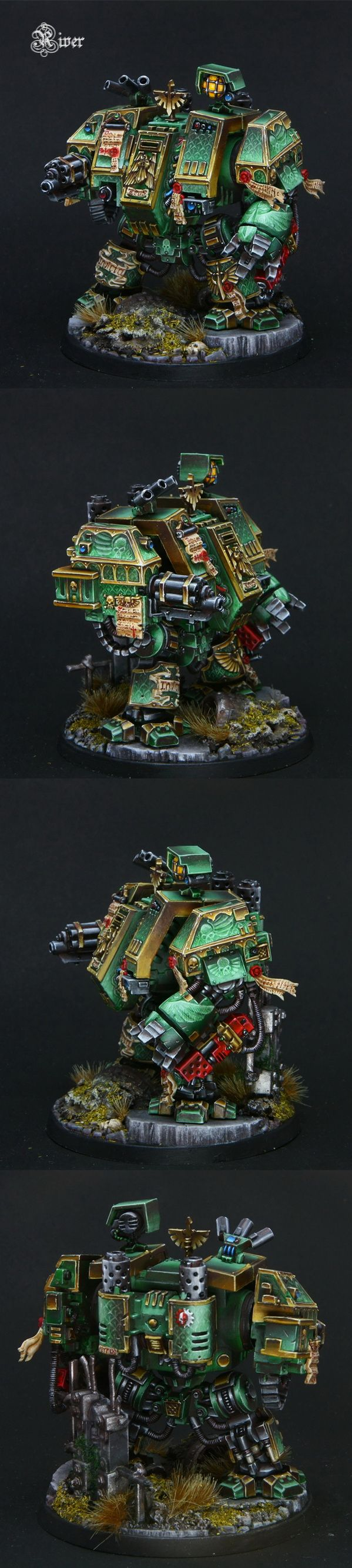 40k - Dark Angels Venerable Dreadnought well that is the most beautiful murder machine i have ever seen