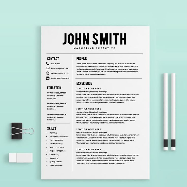 Resume Template Resume Builder CV Template Free Cover