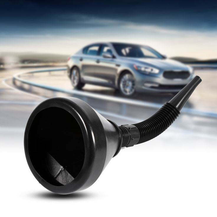 Black 2 in 1 Plastic Funnel Can Spout For Oil Water Fuel Petrol Diesel Gasoline for Cars Motorcycle