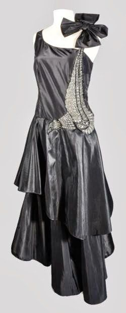 Lanvin 'Peacock' Dress - 1928-29 - by Jeanne Lanvin - Silk taffeta embroidered, glass beads - @~ Mlle