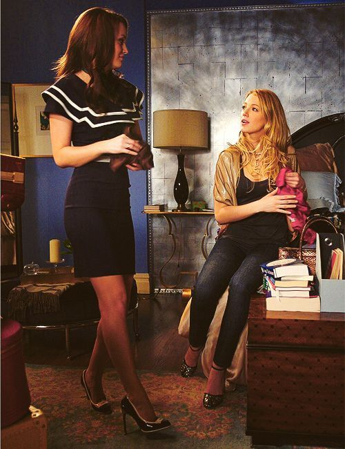 Gossip Girl Fashion Navy Short Sleeved Button Dress