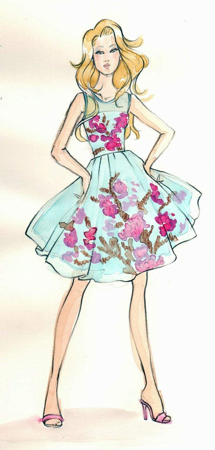 17 best ideas about dress illustration on pinterest for Architecture drawing 500 days of summer