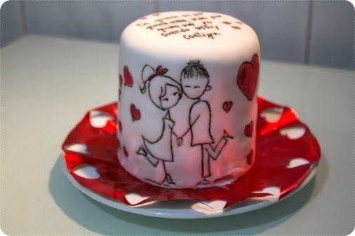 San Valentin's Cake