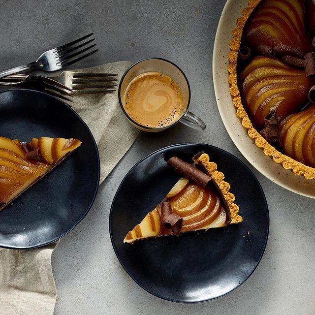 Recette de tarte au chocolat, à la poire et au café – Van Houtte
