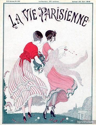 Gerda Wegener 1915 Elegant Women Fashion Illustration
