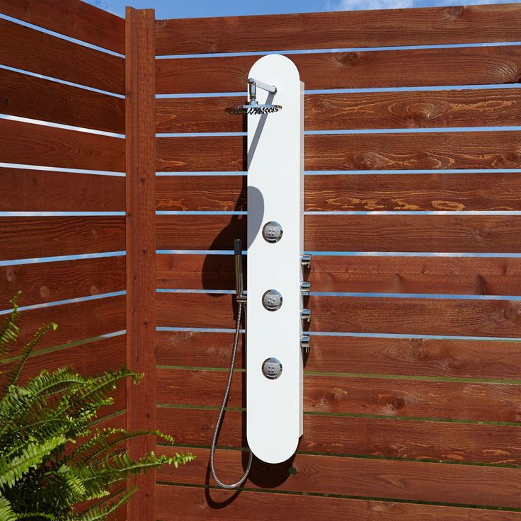 Tyler Three-Jet Outdoor Shower Panel With Hand Shower