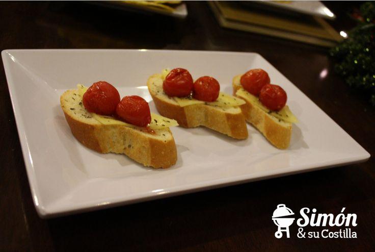 Bruschettas de Tomate cherry