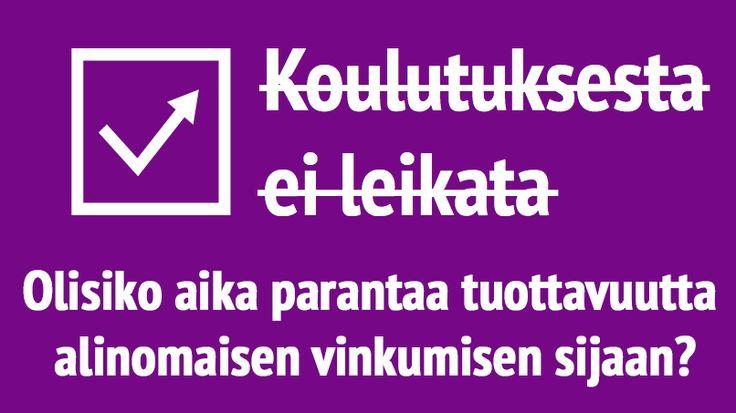 Ei saa leikata! Pitää panostaa koulutukseen. Koulutus on tulevaisuus. Kaikki poliitikot ja poliitikoiksi pyrkivät osaavat saman mantran. Lisää rahaa koulutukseen ja hyvää tulee. Mutta ehkä olisi joskus syytä pysähtyä kysymään, onko kaikki kiinni vain rahasta. Ratkeavatko Suomen kasvuongelmat, kun luokkakoot on saatu pienennettyä ...