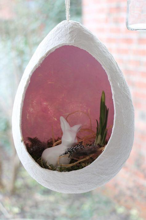 Artesanato de Páscoa com crianças: ovo de Páscoa feito de papel higiênico – …