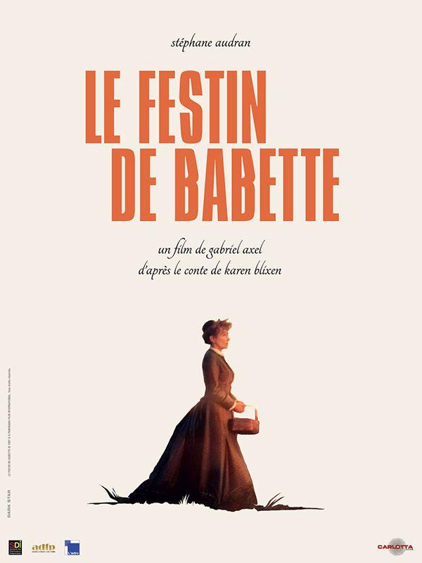 Le Festin de Babette est un film de Gabriel Axel avec Stéphane Audran, Bodil Kjer. Synopsis : Pour échapper à la sordide répression de la Commune en 1871, Babette débarque un soir d'orage sur la côte sauvage du Jutland au Danemark. Elle devient