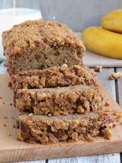 Super Moist Banana Bread With Crunchy Topping | YummyAddiction.com