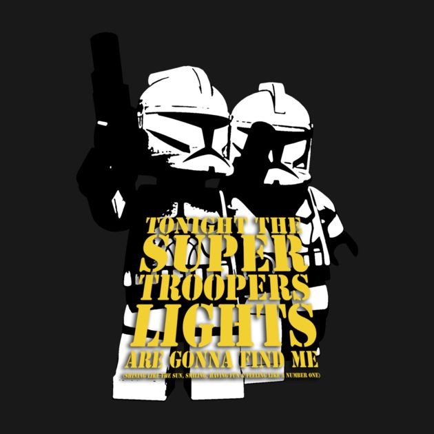 What if The Star Wars Colnes Troopers mett the ABBA?   Check out this awesome 'Super+Troopers' design on TeePublic! http://bit.ly/1zUBh02