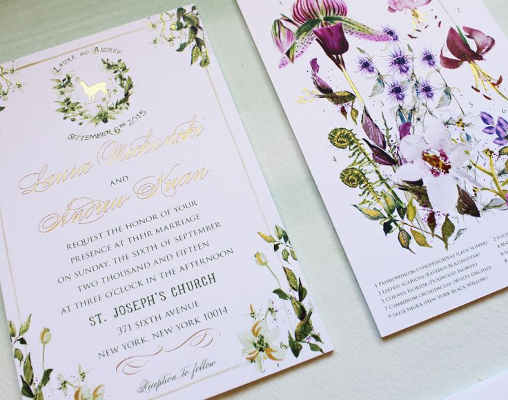 A Peek Into The Studio   Watercolor And Gold Foil Botanical Wedding  Invitations